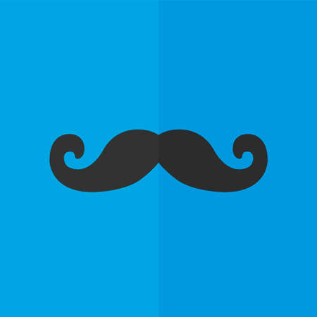 fake mask: Mustaches vector icon. Flat design