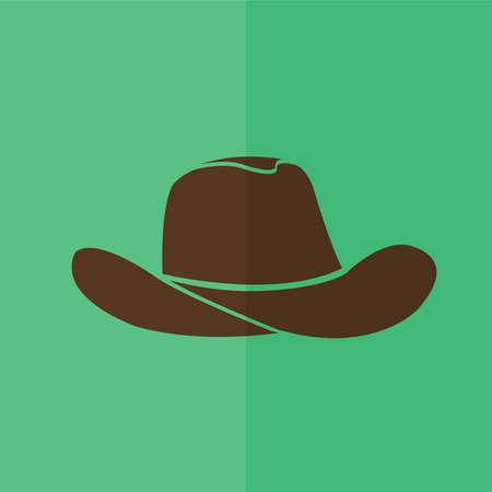 rifleman: Cowboy hat icon. Flat design