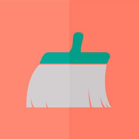 plunge: Clean brush icon. Flat design