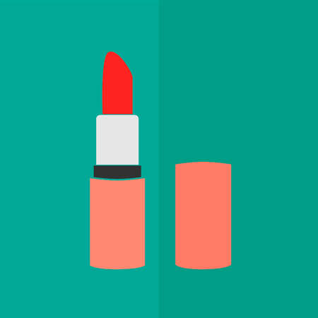 pomade: Pomade lipstick icon. Flat design