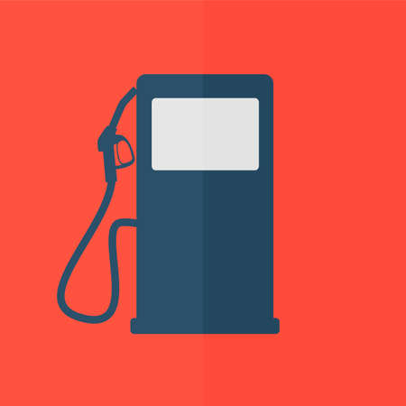 unleaded: Gas station icon. Flat design