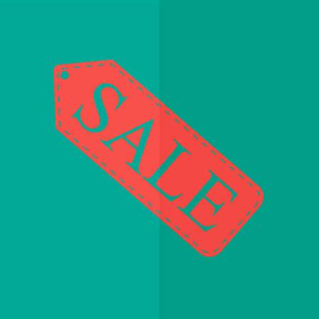 selloff: sale tag vector icon. Flat design