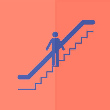 escalator: escalator vector icon. Flat design
