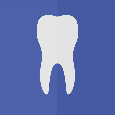 toothcare: Tooth vector icon. Flat design Illustration