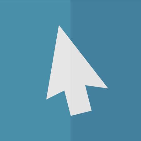 mouse click: Mouse arrow cursor vector icon. Flat design