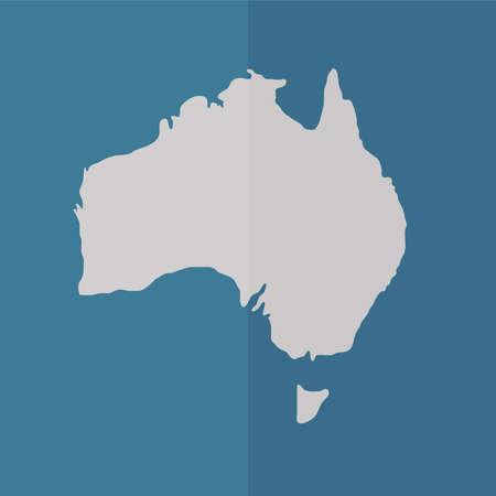 oceania: Australia vector icon. Flat design