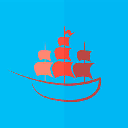 cruising: ship icon. Flat design
