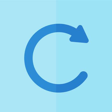 undo: undo icon. Flat design