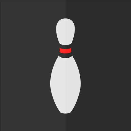 team sports: icono de juego de bolos. Diseño plano Vectores