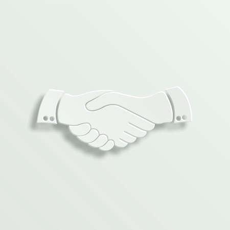 handshake paper vector icon