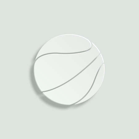 cut the competition: basketball ball paper vector icon Illustration