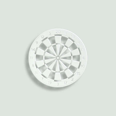 throw up: classic dartboard paper vector icon