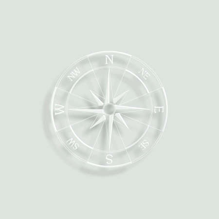 compass rose: wind rose compass paper vector icon
