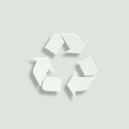 recycle paper: recycle paper vector icon