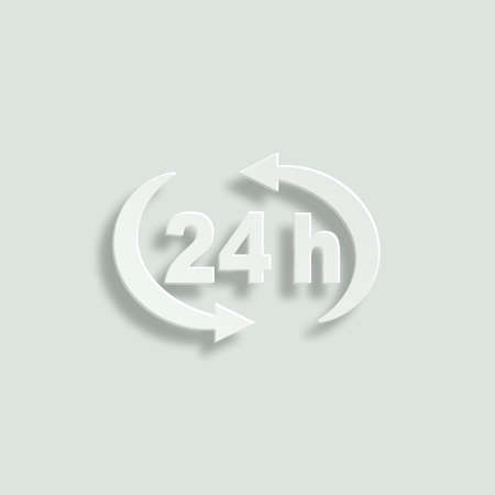 24h paper vector icon