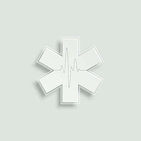 reflection of life: life star paper vector icon