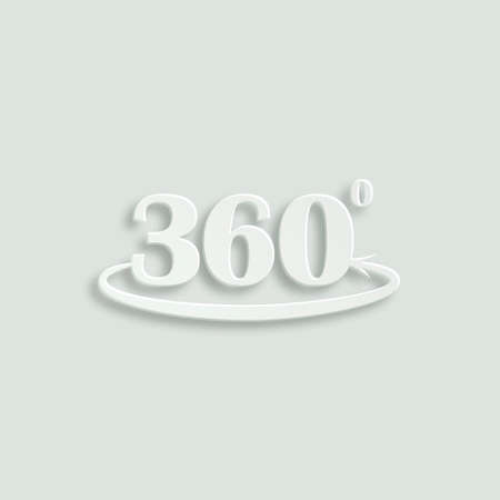 angle: angle of 360 degrees paper vector icon Illustration