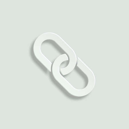 paper chain: chain link paper vector icon