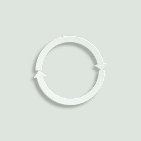 revolve: refresh paper vector icon