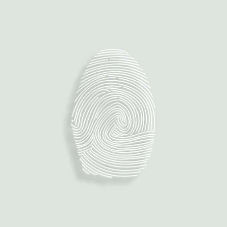 fingermark: fingerprints vector icon - paper illustration