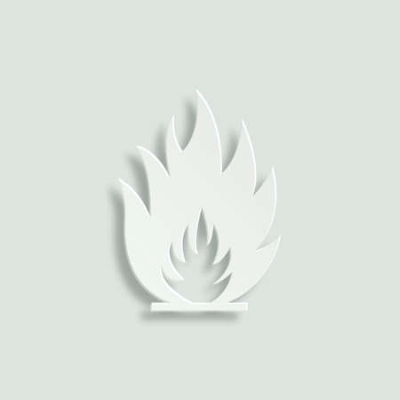 flames vector: fire flames vector icon - paper illustration