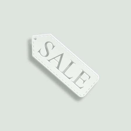 selloff: sale vector icon - paper illustration