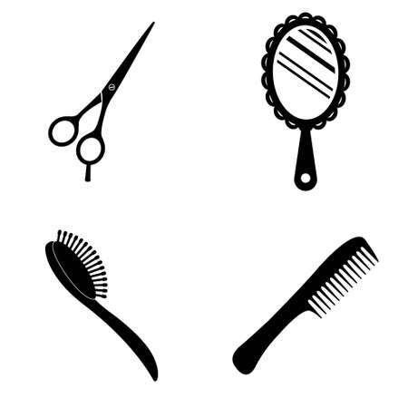 Beauty salon icons  vector set Illustration