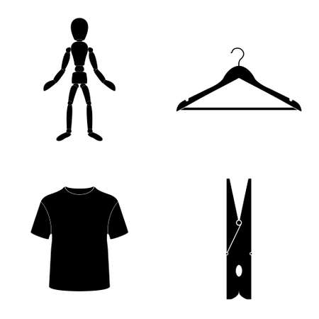 Mans clothes icons  vector set