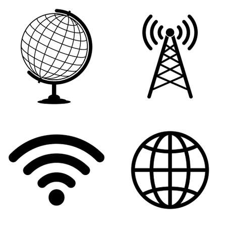 fi: Internet and wi fi icons  vector set Illustration