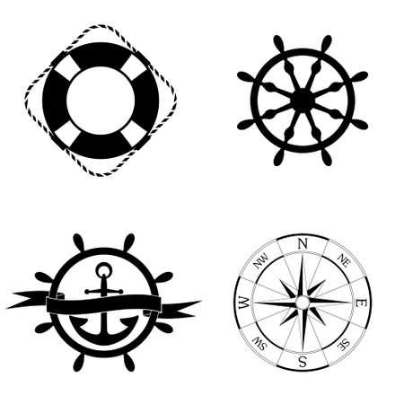Marine  icons vector set