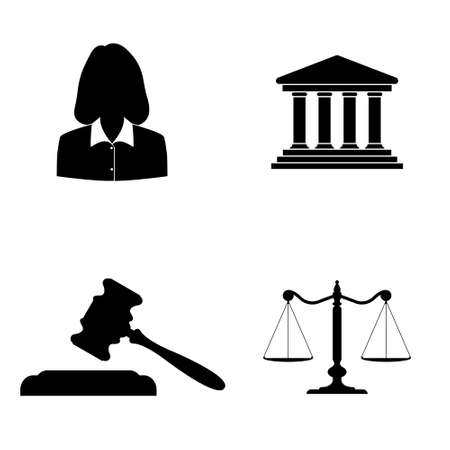 on white: Court icons  vector set