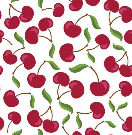 seamless pattern: Red cherry seamless pattern.