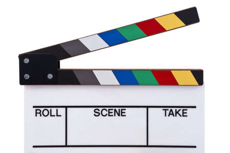 a color movie clapper board  photo