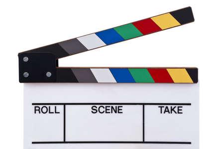 a color movie clapper board  photo