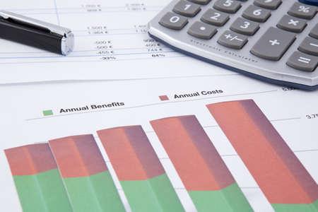 businness: a balance sheet showing negative businness figures