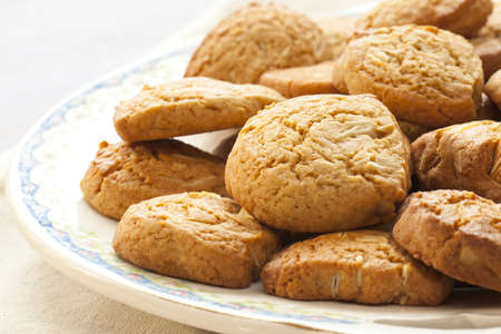 homemade almond cookies  Stock Photo - 12635652