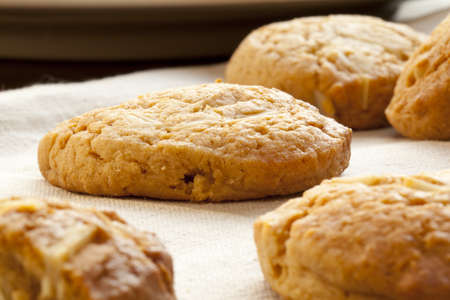 homemade cookies: homemade almond cookies  Stock Photo