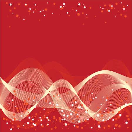 enfumaçado: ondas fumarentos no fundo vermelho - ilustra