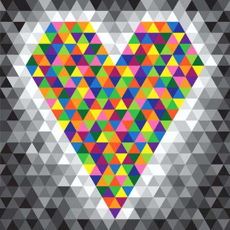 constructive: color mosaic heart - vector illustration Illustration