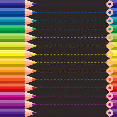constructive: different colored crayons - vector illustration Illustration