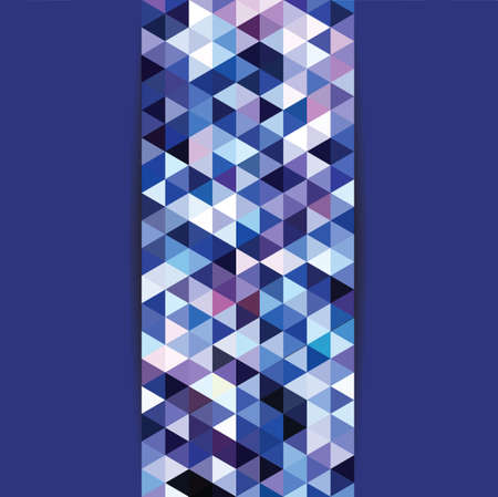 constructive: blue mosaic triangles background - vector illustration