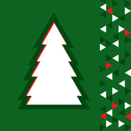 constructive: simple christmas tree - vector illustration