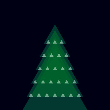christmas tree illustration: various christmas tree - vector illustration