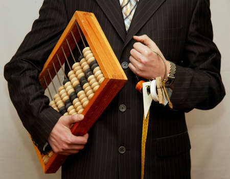 keeps: accountant keeps the Abacus in the hands