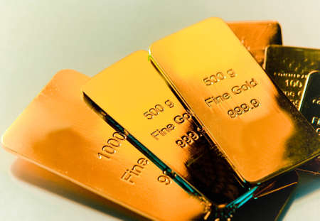 gold ingot: Some gold bars
