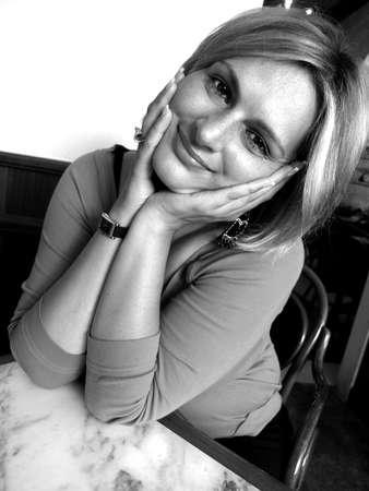 rotund: Portrait of beautiful young woman        Stock Photo