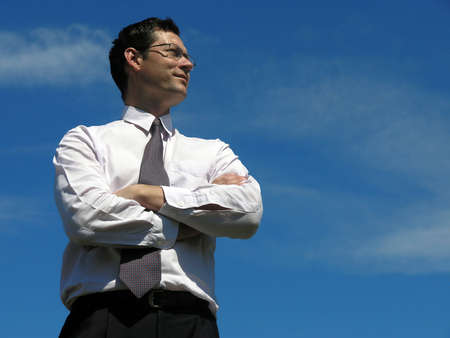 Business success! Concept of Leadership .        Stock Photo
