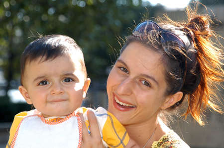 A young mother and her son Stock Photo - 2660054