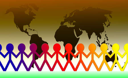 interconnection: International symbolism for global cooperation, teamwork, interconnection, unity...