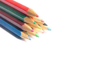 color pencils on a white background...shallow DOF